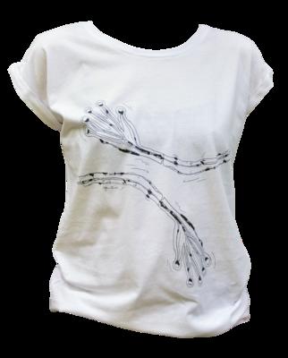 Ladies-Shirt:  T-Shirt mit Rollärmeln