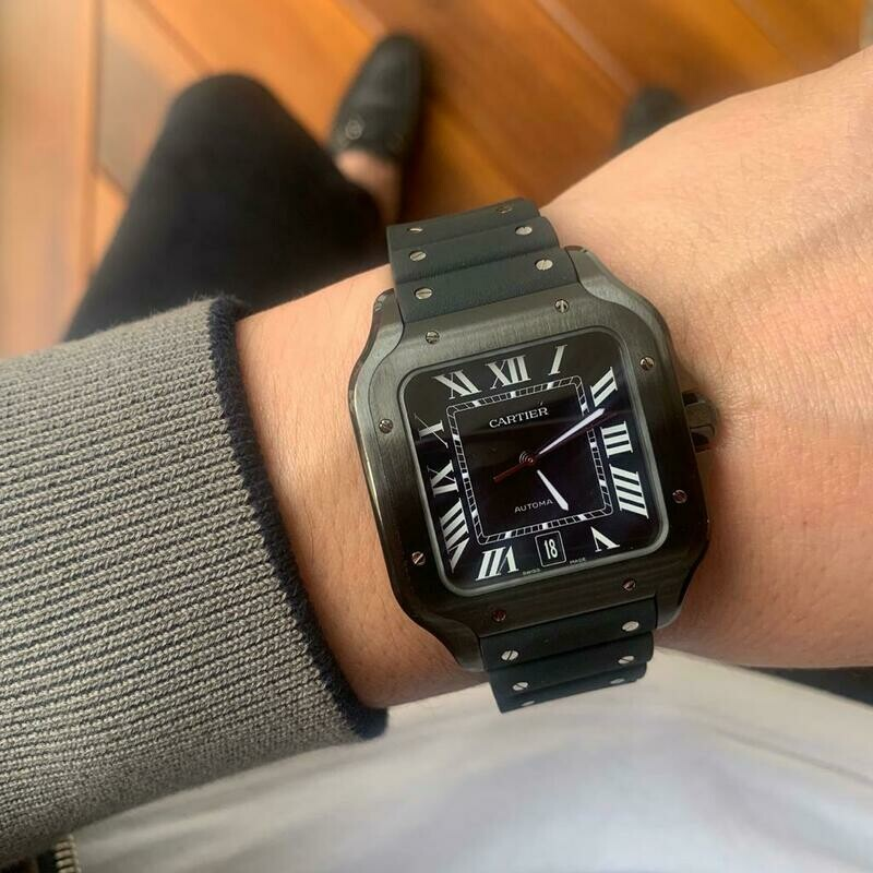 RELOJ CARTIER SANTOS LARGE BLACK