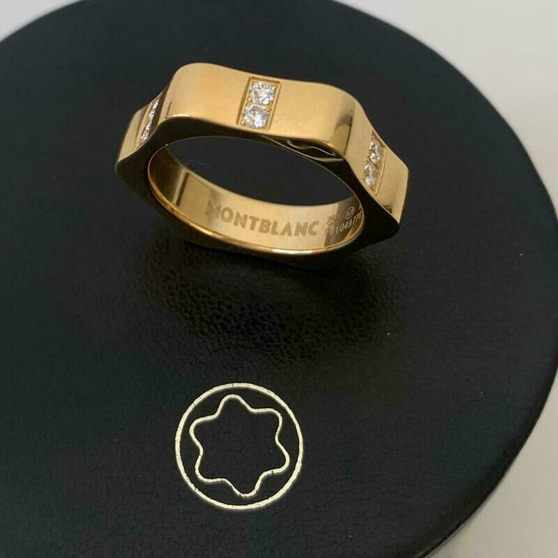 MONTBLANC GOLD RING AND DIAMONDS
