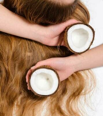 Coconut oil before coloring hair