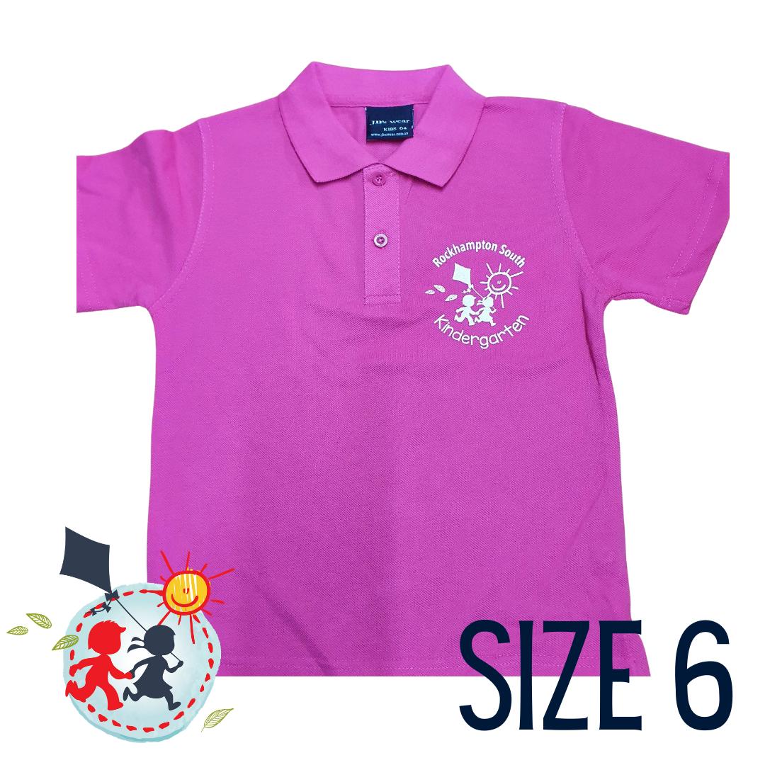 SIZE 6- Pink - Kindy Shirt