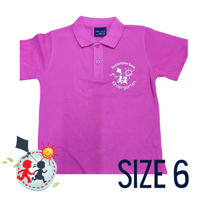 SIZE 6- Pink - Kindy Shirt