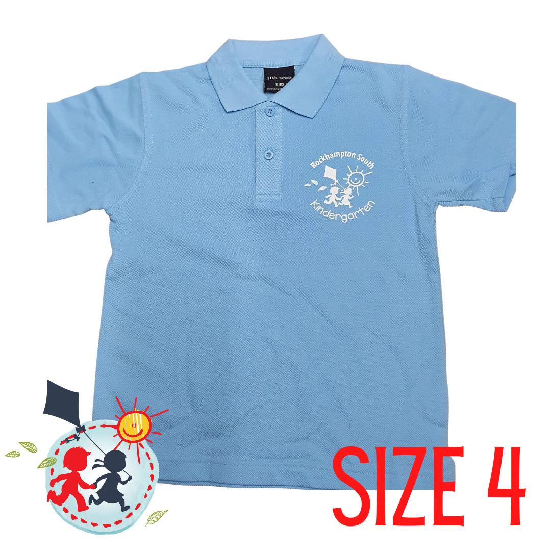 SIZE 4 - Light Blue - Kindy Shirt