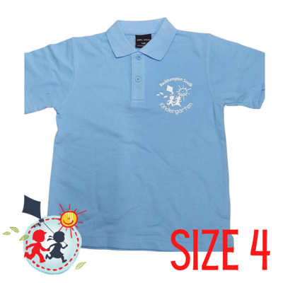 SIZE 4 - Light Blue - Kindy Shirt