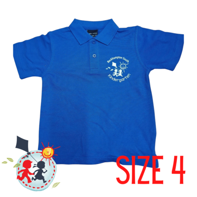 SIZE 4 - Blue - Kindy Shirt