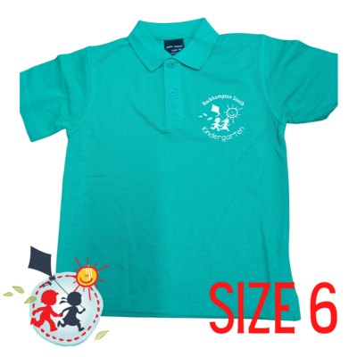 SIZE 6 - Green - Kindy Shirt