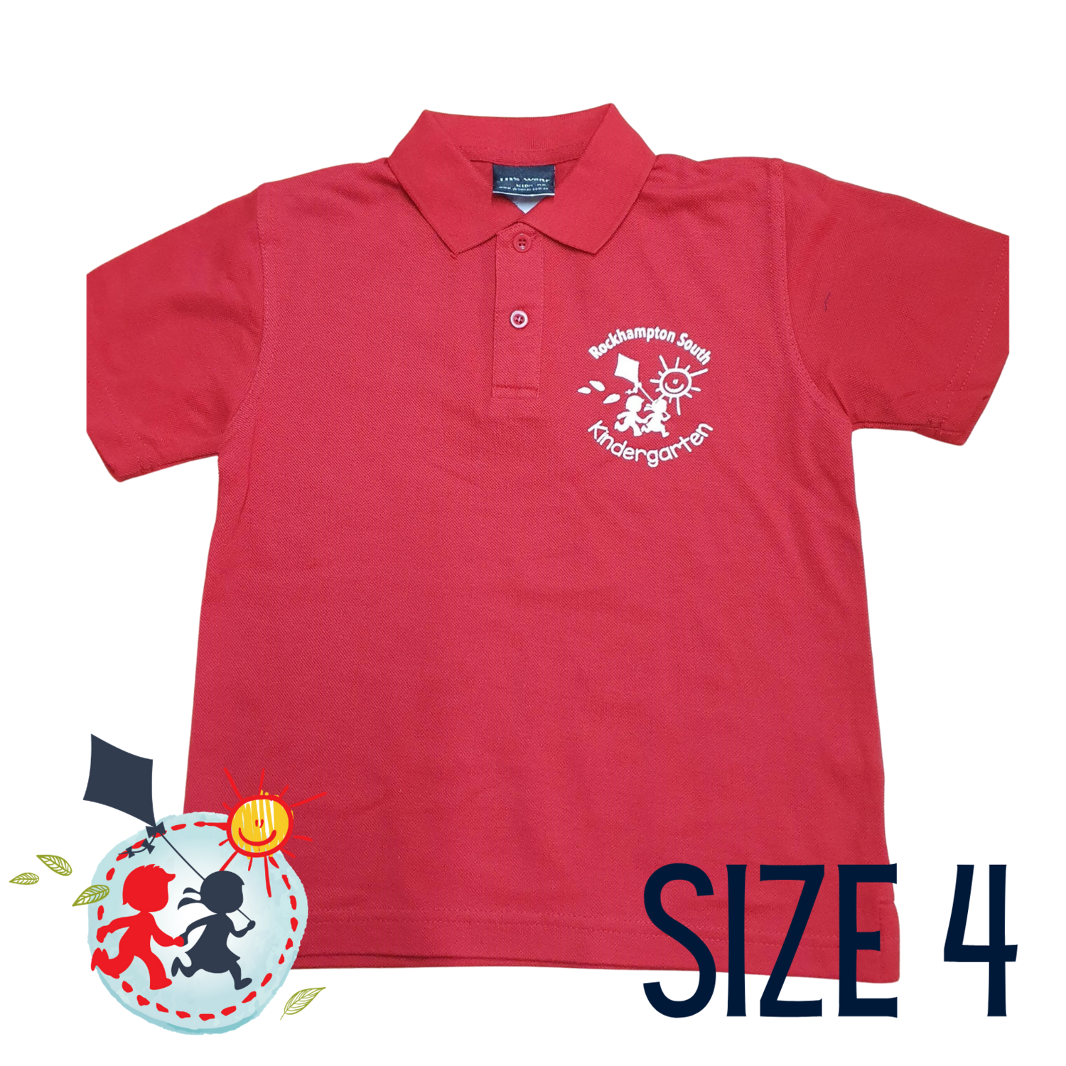 SIZE 4 - Red - Kindy Shirt