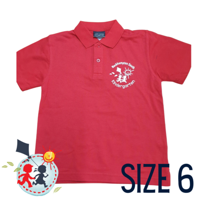 SIZE 6 - Red - Kindy Shirt