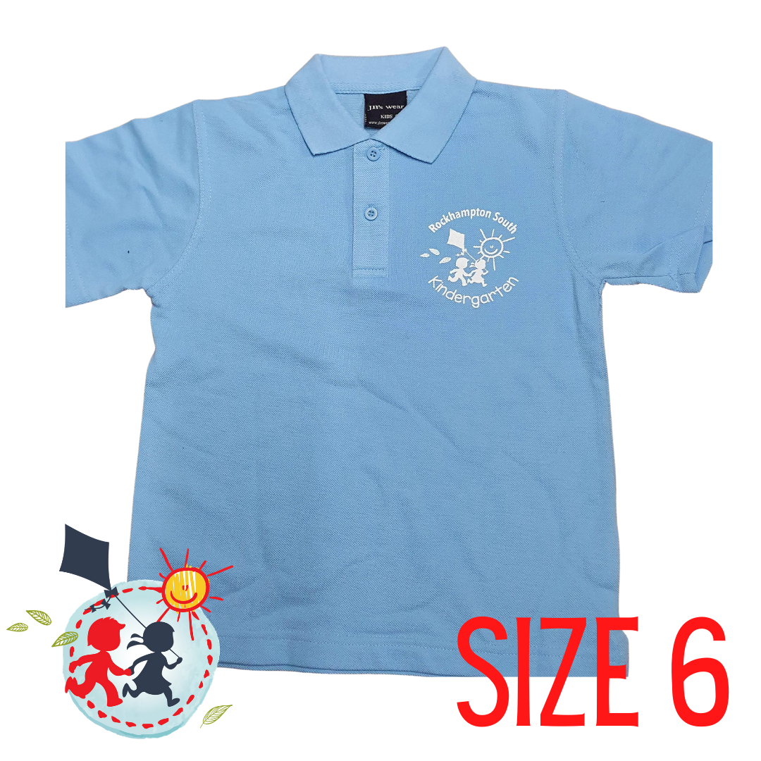 SIZE 6 - Light Blue - Kindy Shirt