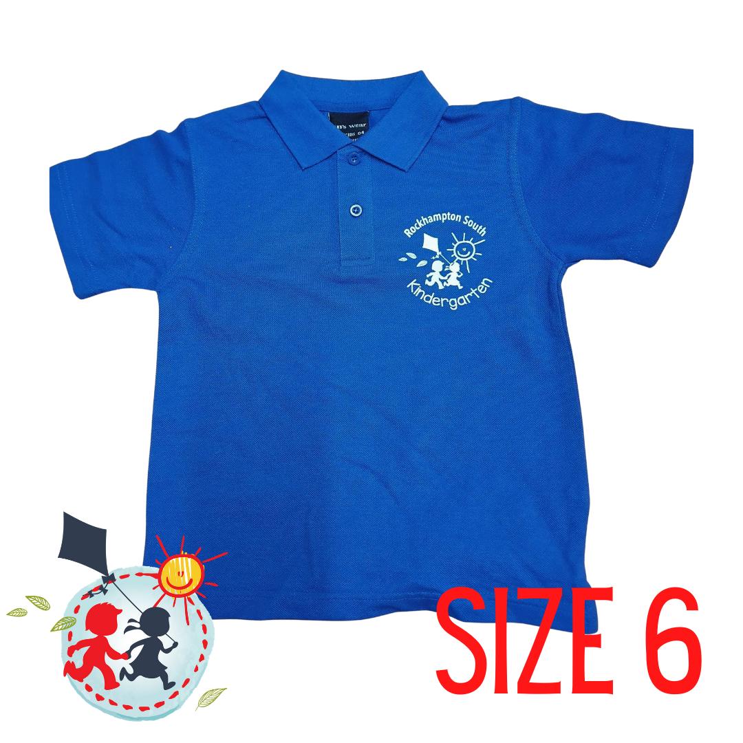 SIZE 6 - Blue - Kindy Shirt