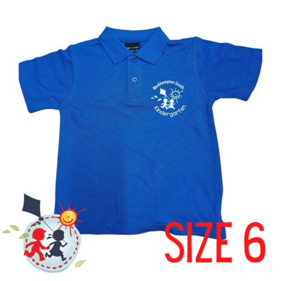 SIZE 6 - Blue - Kindy Shirt