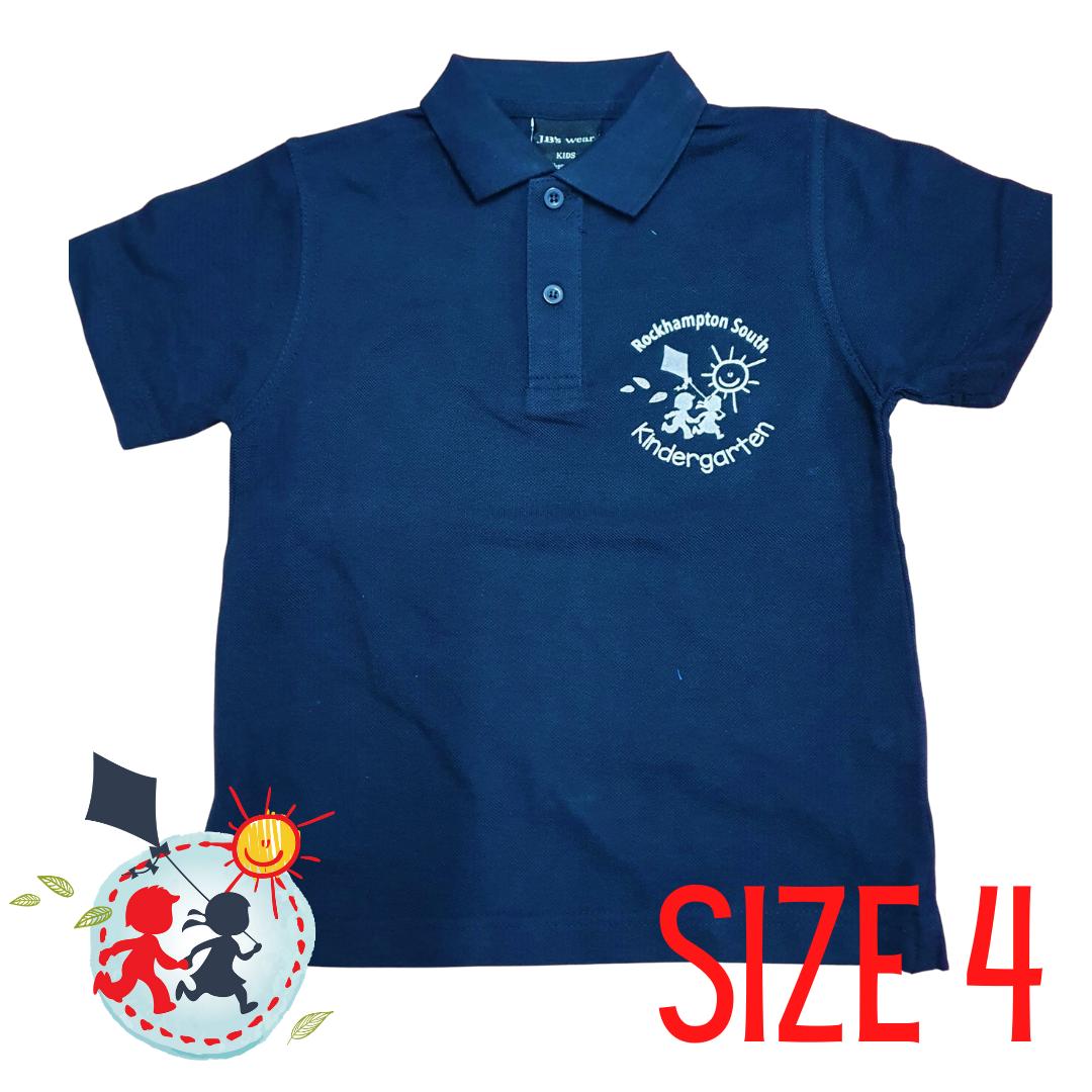 SIZE 4 - Navy- Kindy Shirt