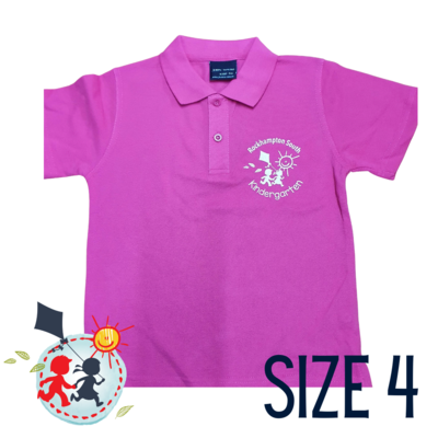 SIZE 4 - Pink - Kindy Shirt