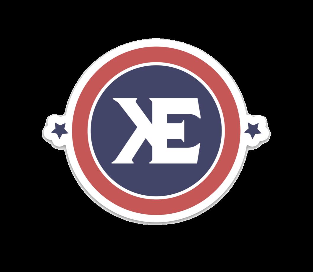 """Kyle Elliott 3"""" (KE) Classic Sticker"""