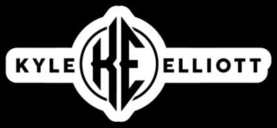 "Kyle Elliott 1"" Sticker (Black & White)"