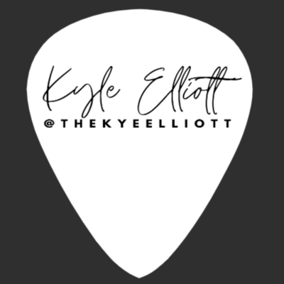 Kyle Elliott (Pearl one sided B&W) Guitar Pick 1