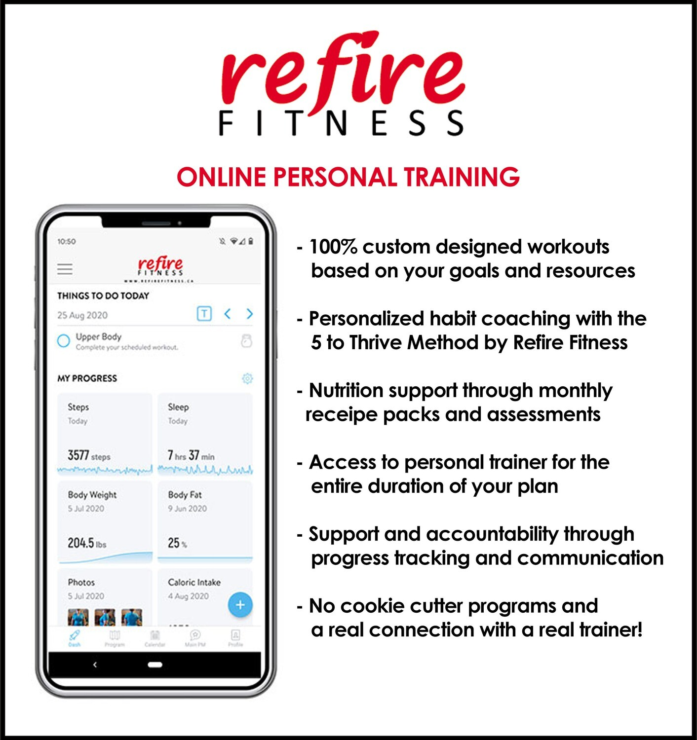 Online Personal Training Sign Up