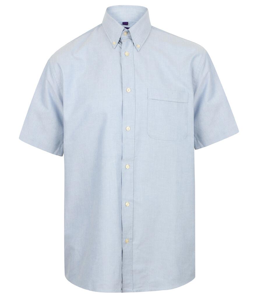 Henbury H515 Short Sleeve Classic Oxford Shirt