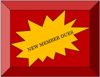 NEW MEMBER MEMBERSHIP DUES
