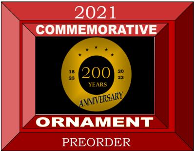 2021 Commemorative  Ornament Pre-Order