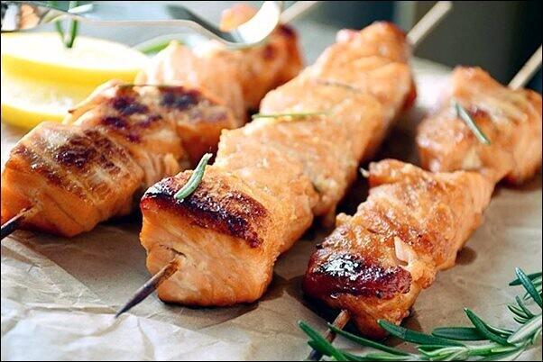 Шашличок з лосося