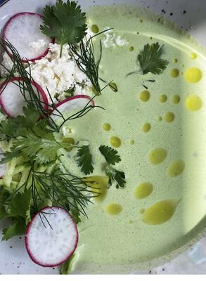 Холодний суп Джаджик/йогуртовтй суп з огірками та зеленню