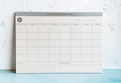 Pad de escritorio - Planificador Semanal