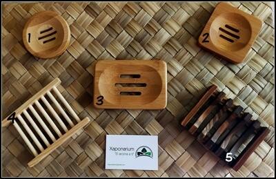 Jabonera de Madera de Bambú/Cerámica