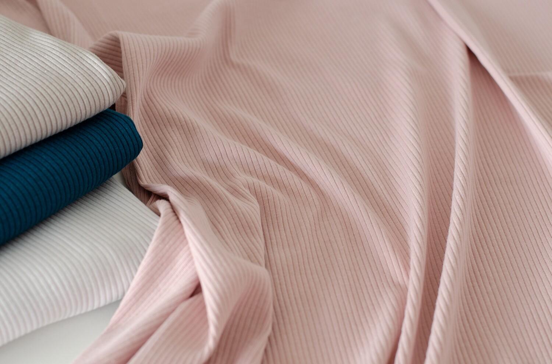 Трикотажная лапша Розовая дымка