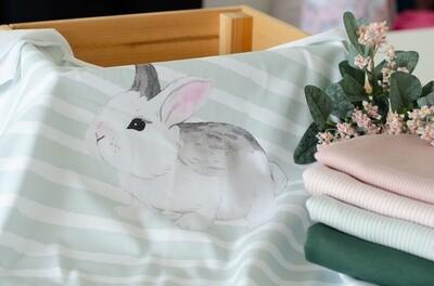 Кулирная гладь с лайкрой купон Кролик серый (диджитал)