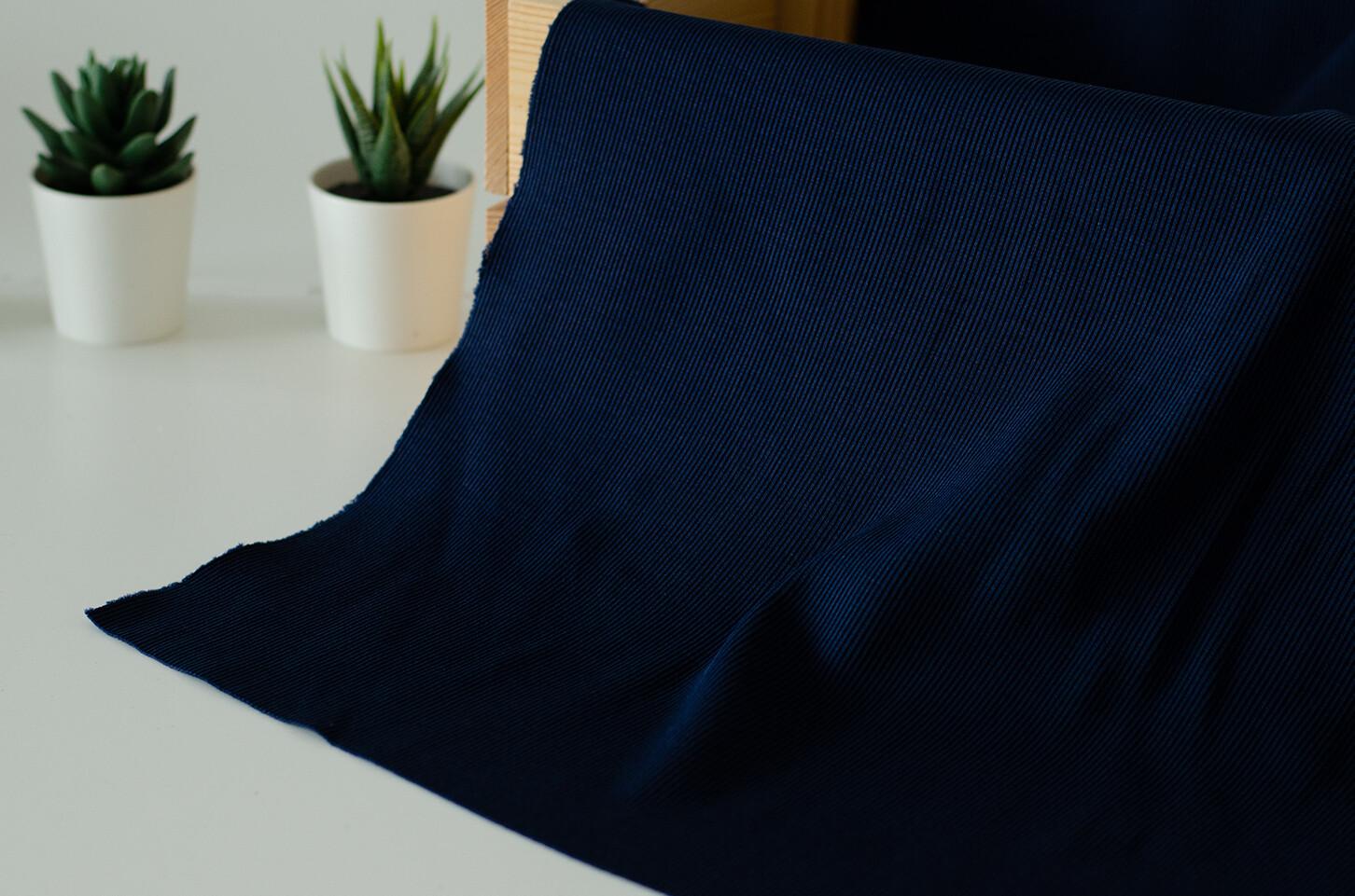 Кашкорсе с лайкрой Темно-синий