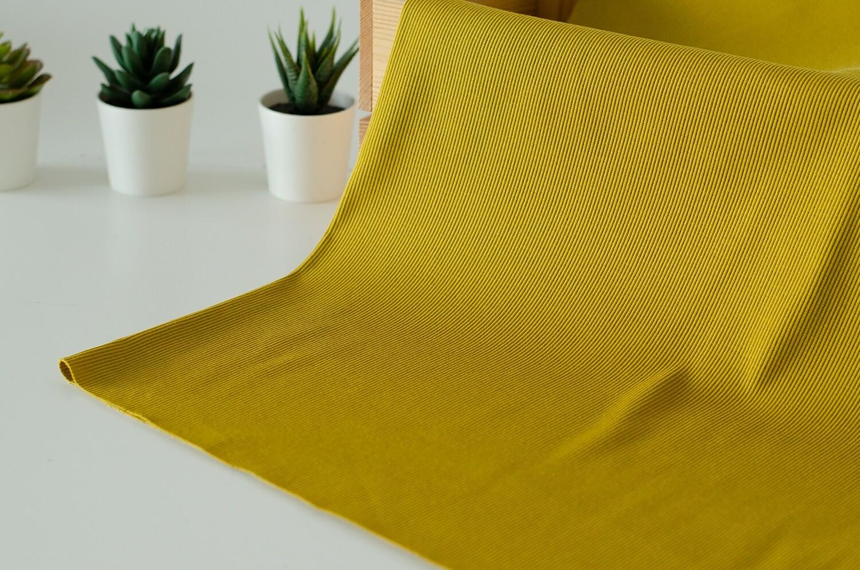 Кашкорсе с лайкрой Желтый мох