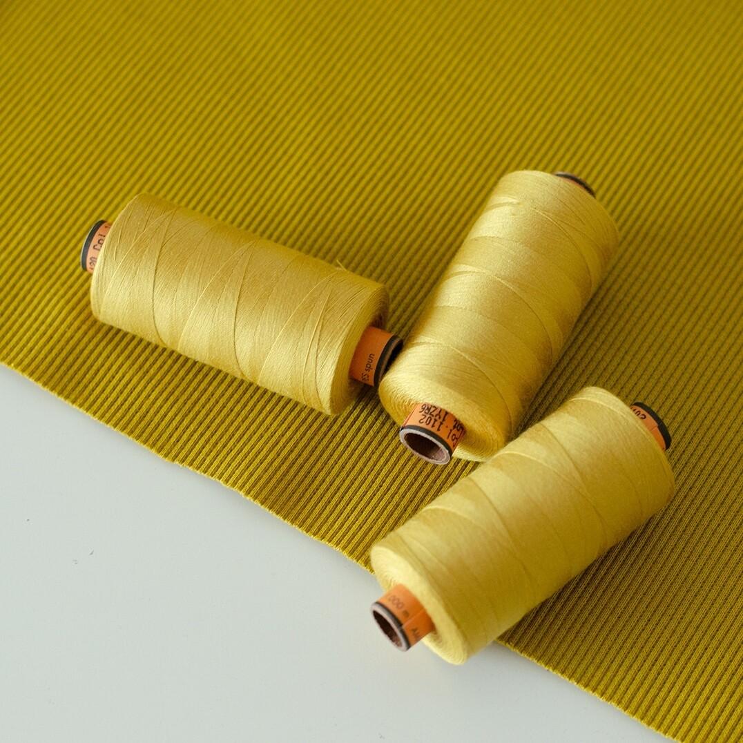 Нитки Amann Belfil-S 120 1000 м (Желтый мох 1102)