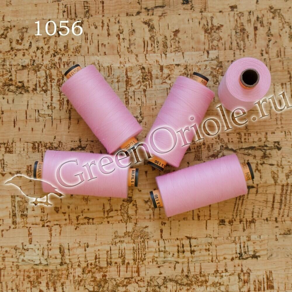 Нитки Amann Belfil-S 120 1000 м (Розовый 1056)