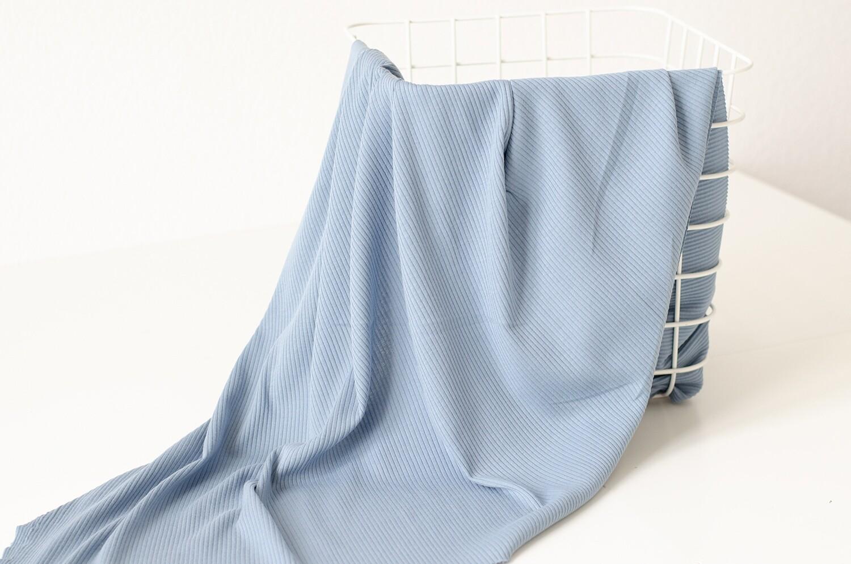 Трикотажная лапша Пыльно-голубая
