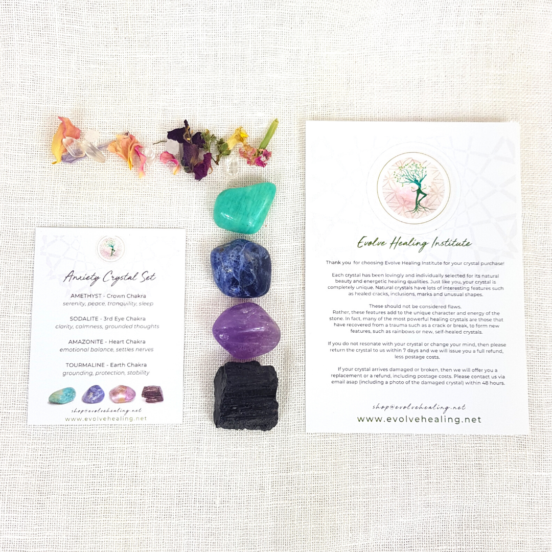 ANXIETY:  Calming Crystal Set