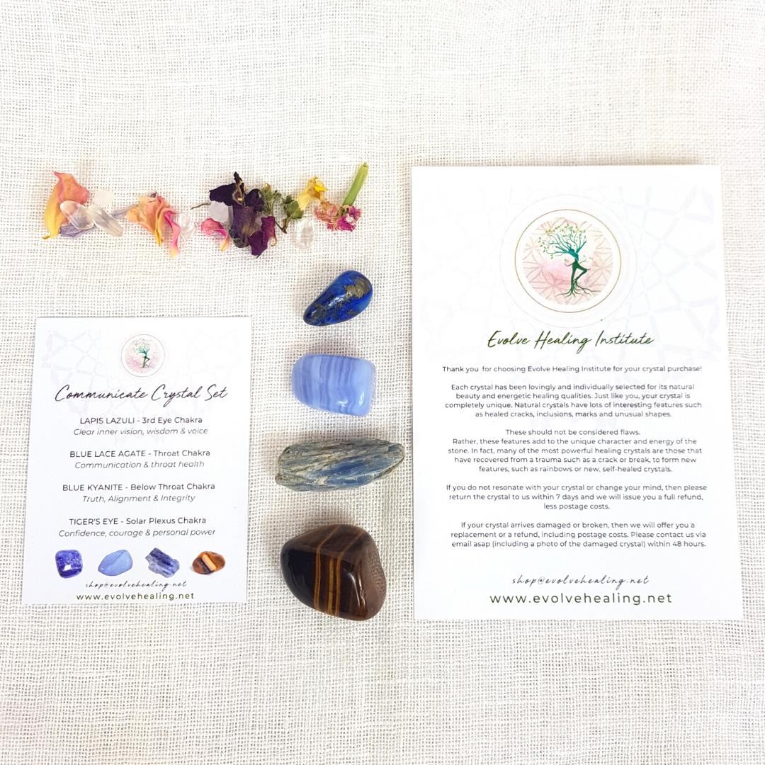 COMMUNICATE:  Healing Crystal Set