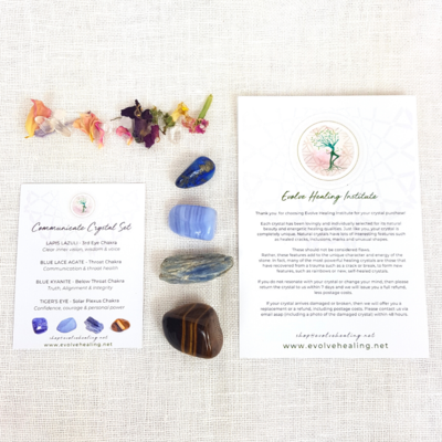 COMMUNICATE:  Healing Crystal Set