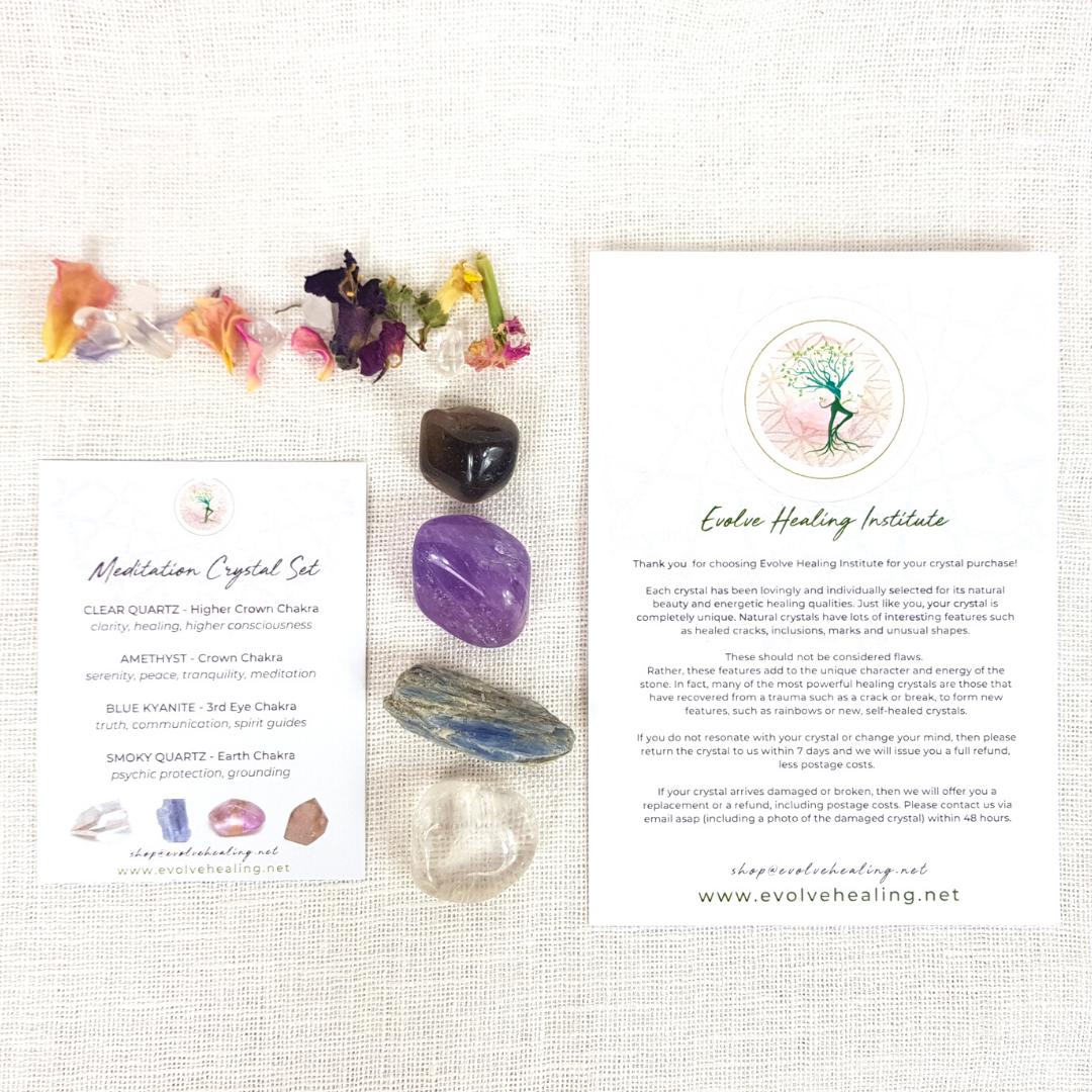 MEDITATION:  Mindfulness Crystal Set