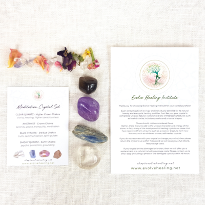 MEDITATION:  Mindfulness Crystal Set
