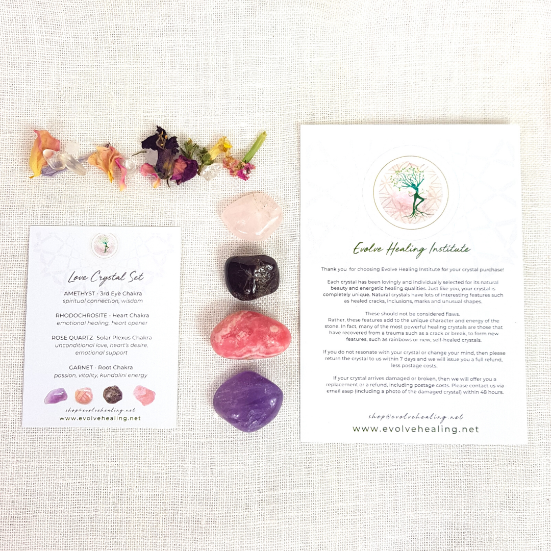 LOVE:  Healing Crystal Set