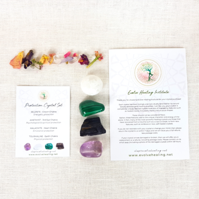 PROTECTION:  Healing Crystal Set