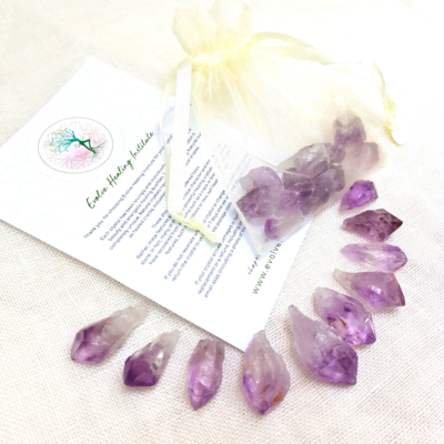 Amethyst Points for Body Gridding  - 10 Pieces