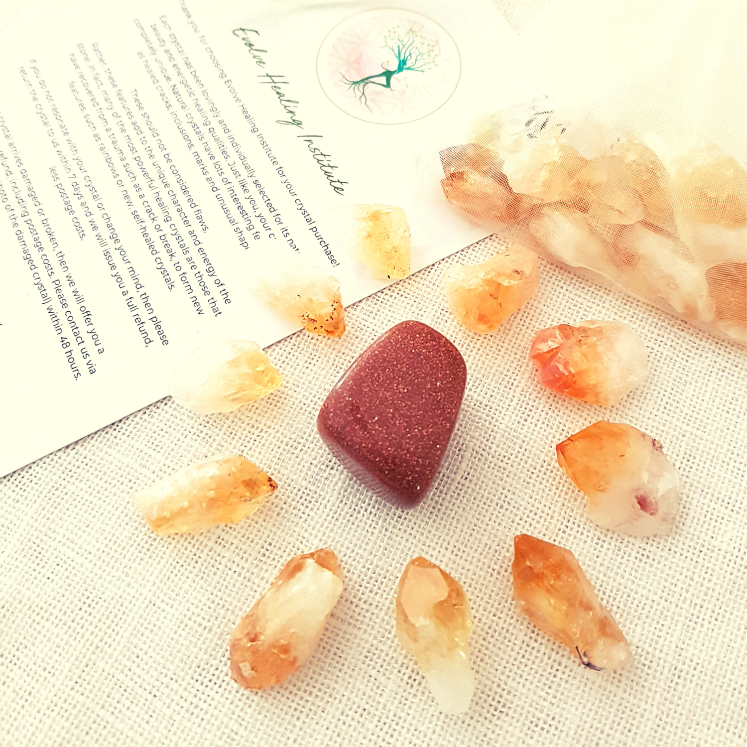 Citrine Points for Body Gridding  - 10 Pieces
