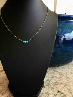 Small original turquoise beads Necklace