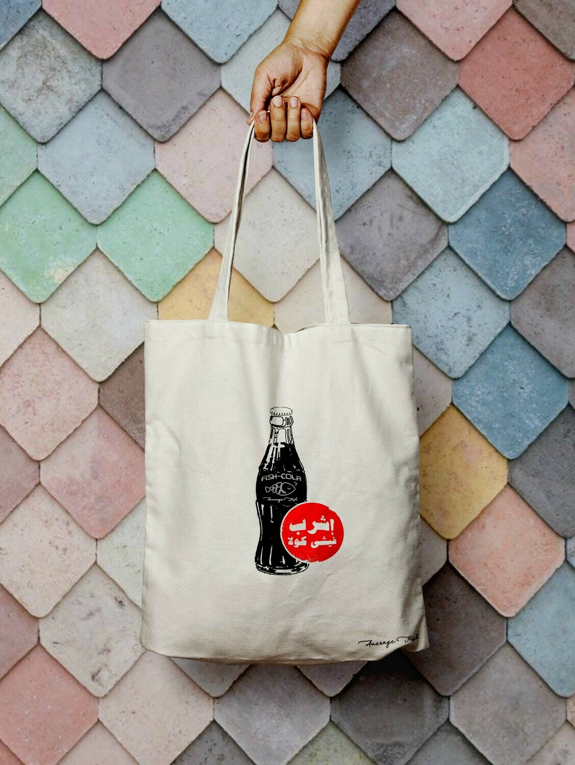Fish-Cola Tote Bag