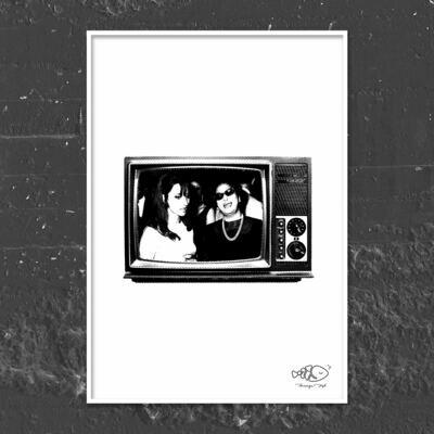 Lebanese TV Art Frame