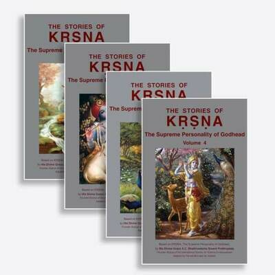 The Stories of Lord Krishna (4 Volume Set) : English