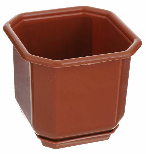 Дама с поддоном 16х16 2л коричневый УКР (10)