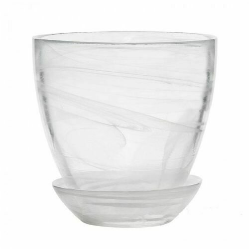 Стекло Шифон с поддоном №4 прозрачно-белый 15,5х17см